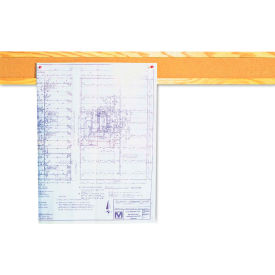 """Quartet® 48""""L Bulletin Boarder Bar - Natural Cork with Oak Frame"""