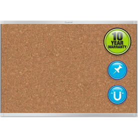 "Quartet® Prestige 2 Magnetic Cork Bulletin Board - 72"" x 48"" - Aluminum Frame"