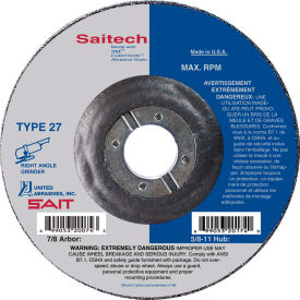 "United Abrasives - Sait 20084 Depressed Center Wheel T27 Saitech 7""x 1/4"" x 7/8"" Ceramic Alum. Oxide - Pkg Qty 25"
