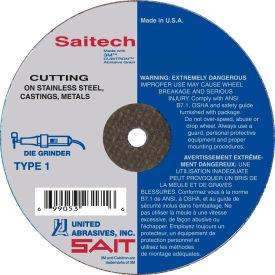 """United Abrasives - Sait 23140 Cut Off Wheel Type 1 Saitech 3"""" x 1/16"""" x 3/8"""" Ceramic Aluminum Oxide - Pkg Qty 50"""