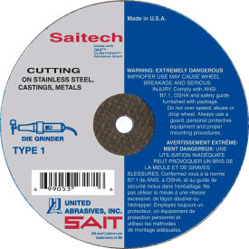 """United Abrasives - Sait 23152 Cut Off Wheel Type 1 Saitech 3"""" x .035"""" x 1/4"""" Ceramic Aluminum Oxide - Pkg Qty 100"""
