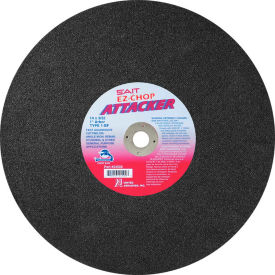 """United Abrasives Sait 24500 Chop Saw Wheel Type 1 Attacker 14""""x 3/32"""" x 1"""" Aluminum Oxide Package Count... by"""