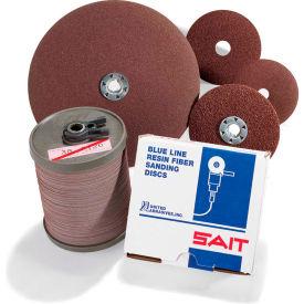 """United Abrasives - Sait 51100 2A Fiber Disc 4-1/2"""" x 7/8"""" 100 Grit Aluminum Oxide - Pkg Qty 100"""