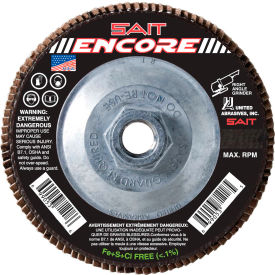 """United Abrasives - Sait 71219 Encore Flap Disc T27 Encore 4-1/2""""x 5/8-11"""" 80 Grit Zirconium - Pkg Qty 10"""