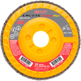 "United Abrasives - Sait 72259 Encore Flap Disc Type 29 5 "" x 7/8"" 80 Grit Ceramic - Pkg Qty 10"