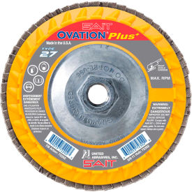 "United Abrasives - Sait 72304 Ovation Flap Disc T27 5""x 5/8-11"" 120 Grit Zirconium - Pkg Qty 10"