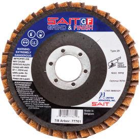 "United Abrasives - Sait 77726 Grind/Finish Flap Disc T29 5 "" x 7/8"" 80 Grit Coated & Non-Woven - Pkg Qty 10"