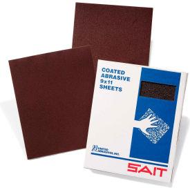 """United Abrasives - Sait 84913 DA-F Sanding Sheets 9"""" x 11"""" DAF 120 Grit Aluminum Oxide - Pkg Qty 50"""