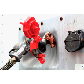 Accuform KDD477 Stopout® Trailer-Lock Glad Hand Lockout, Plastic