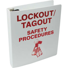 """Accuform KSS146 Lockout Procedure Station Additional Binder, Plastic, 11""""W X 11-1/2""""H by"""