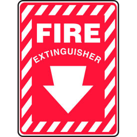 """Accuform MFXG417VS Fire Extinguisher Sign, 7""""W x 10""""H, Adhesive Vinyl by"""
