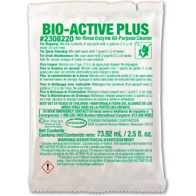 Stearns Bio-Active Plus Floor Cleaner - 2.5 oz Packs, 72 Packs/Case - 2308220