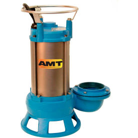 """AMT 5767-95 CI Submersible Shredder Sewage Pump, Double Mechanical Seal, 4"""" Out, 5 hp, 3 Phs Motor by"""