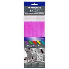 "Baumgartens Wristpass Security Wrist Bands, 10"" x 3/4"", Purple, 100 Bands/Pack by"