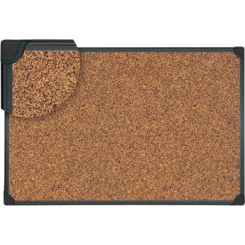 """Universal® Tech Cork Board - 24"""" x 18"""" - Rubber-Cork Surface with Black Plastic Frame"""