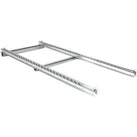 UNEX® Pallet Track Floor Conveyor - 2 Staggered Skate Wheel Lanes 8'L - 3360 Lb. Cap.