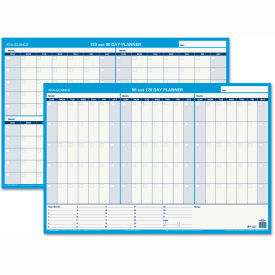 AT-A-GLANCE 90/120-Day Undated Horizontal Erasable Wall Planner, 36 x 24, White/Blue, PM23928 by