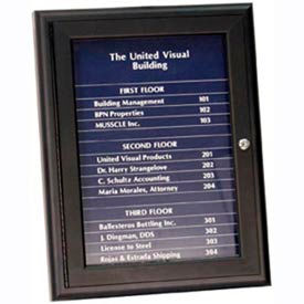 "United Visual Products 36""W x 24""H Magnetic Strip Letter Board Board with Dark Blue Strips"