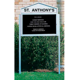 """United Visual Products 2"""" x 2"""" x 96"""" Posts for Single Sided Letter Boards"""