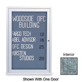 "United Visual Products 48"" x 36"" 2-Door Indoor Enclosed Marble Easy..."
