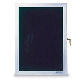 "United Visual Products 36""W x 36""H Slim Style Enclosed Letter Board with Satin Frame"