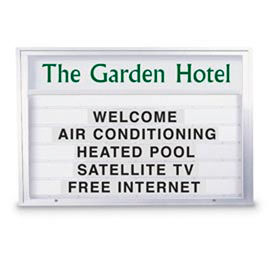 """United Visual 72""""W x 48""""H Double Sided Outdoor Illuminated Readerboard with Satin Aluminum Frame"""