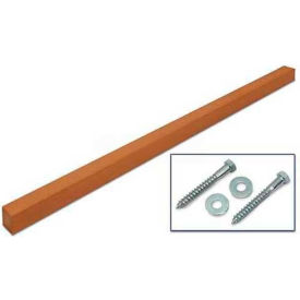 "United Visual Products 4""W x 4""D x 96""H Single Cedar Post and Hardware"