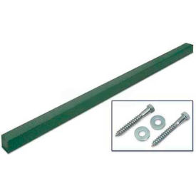 """United Visual Products 4""""W x 4""""D x 96""""H Single Woodland Green Post and Hardware"""