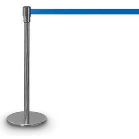 """Chrome Presidential Post with 12'6"""" Royal Blue Tape"""