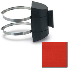 """Wall Mounted Tape Unit with 12'6"""" Red Tape and Hose Clamps"""