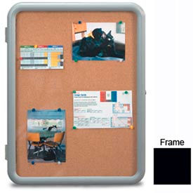 """United Visual Products 24""""W x 36""""H Image Enclosed Corkboard with Black Frame"""