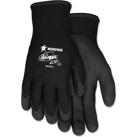 MCR Safety N9690L Ninja Ice Gloves, Arcylic Terry Inner, Black, Large, 1 Pair