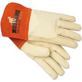 MCR Safety 4950L Mustang Mig/Tig Welding Gloves, Leather, Beige, Large, 12 Pairs