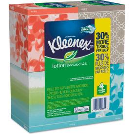 Kleenex® Lotion Facial Tissue, 2-Ply, 75 Sheets/Box, 4 Box/Pack - 25834