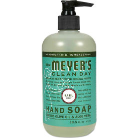Mrs. Meyer's® Clean Day Liquid Hand Soap, Basil, 12.5 oz. Pump 6/Carton - 651344