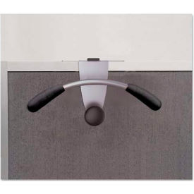 Alba PMMOUSPART Over-The Panel Garment Partition Valet, Silver/Black, 15 1/2 x 6 x 7 1/2