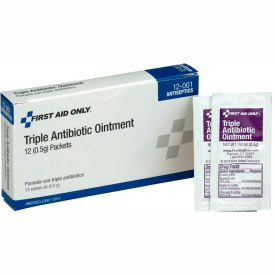 First Aid Only, Triple Antibiotic Ointment, 12/Box, 12-001
