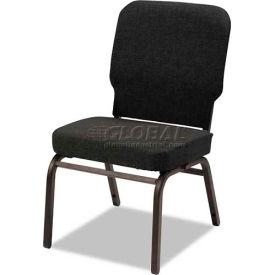 Alera® Oversize Stack Chair, Black Fabric Upholstery, 2/Carton