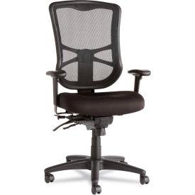 Alera® Multifunction Mesh Chair - Fabric - High Back - Black - Elusion Series