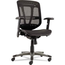 Alera® Multifunction Mesh Office Chair - Mid-Back - Black - Eon Series