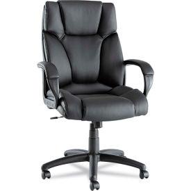 Alera® Fraze High-Back Swivel/Tilt Chair, Black Leather