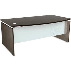"""Alera ALESE227242ES SedinaAG Series Bow Front Desk Shell, 72""""W x 42""""D x 29-1/2""""H, Espresso"""