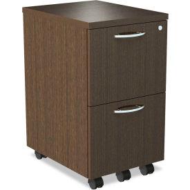 Alera® SedinaAG Series Mobile File/File Pedestal,15-3/8w x 20d x 26-5/8h,Espresso