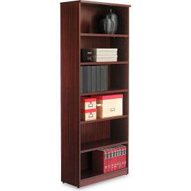 "Alera ALEVA638232MY Valencia Series Bookcase, 6 Shelves, 31-3/4""W x 14""D x 80-3/8""H, Mahogany"