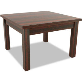 Alera® Occasional Table, Square, 23-5/8w x 23-5/8d x 20h, Mahogany - Valencia Series