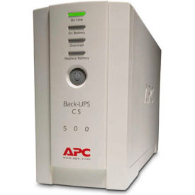 APC® BK500 Back-UPS CS 500 Battery Backup System, 6 Outlets, 500VA / 300 Watts