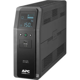 APC® BR1500G Back-UPS Pro 1500 Battery Backup System, 10 Outlets, 1500 VA / 865 Watts