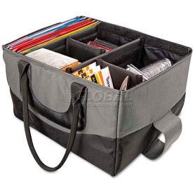 AutoExec 14000 File Tote Bag, 600-Denier Nylon, 14 x 17 x 10-1/2, Gray/Black