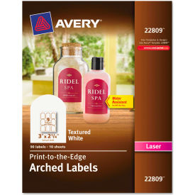 Avery® Textured Arched Easy Peel Labels, 3 x 2-1/4, White, 90/Pack