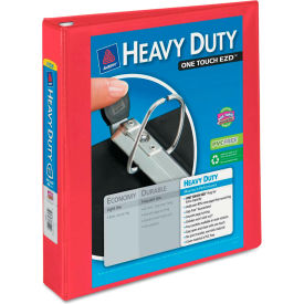 "Avery Heavy-Duty View Binder with One Touch EZD Rings, 1 1/2"" Capacity, Red by"
